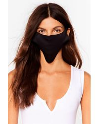 Nasty Gal No Strings Attached Fashion Face Mask - Noir