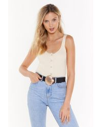 """Nasty Gal """"shell Yeah Faux Leather Buckle Belt"""" - Black"""