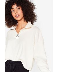 Nasty Gal O-ring Our Praises High Neck Cropped Sweatshirt - Multicolour
