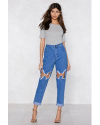 Nasty Gal - You Better Ring Me O-ring Jeans - Lyst