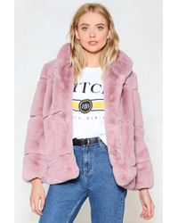 Nasty Gal - Fur Your Consideration Faux Fur Coat - Lyst