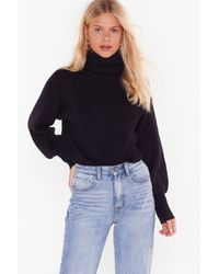 "Nasty Gal ""keep Rollin' Rollin' Turtleneck Sweater"" - Black"