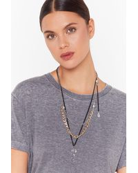 """Nasty Gal """"persistence Is Key Layered Necklace"""" - Multicolor"""