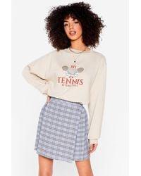 Nasty Gal Serves 'em Right Tennis Oversized Graphic Sweatshirt - Multicolor