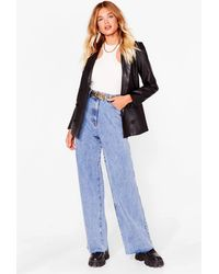 Nasty Gal Washing Over You Wide-leg Jeans - Blue