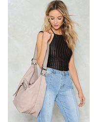 Nasty Gal Oversize Double Zip Slouch Bag Oversize Double Zip Slouch Bag - Multicolour
