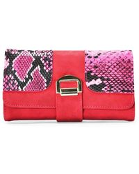 Nasty Gal Want Pay It Forward Vegan Leather Wallet - Red