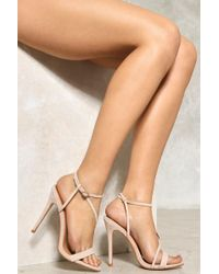 Nasty Gal Charlotte Strappy Heel Charlotte Strappy Heel - Natural