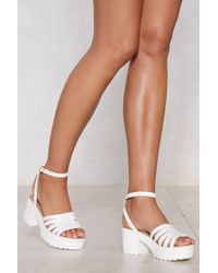 """Nasty Gal - """"who's Rattled Your Cage Sandal"""" - Lyst"""