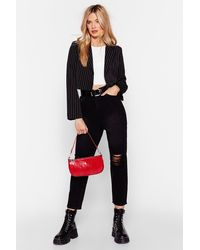 Nasty Gal Distress Less High-waisted Mom Jeans - Black