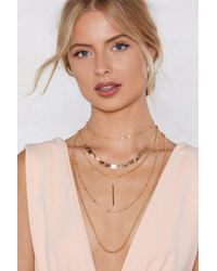 Nasty Gal - More Is More Layered Necklace - Lyst