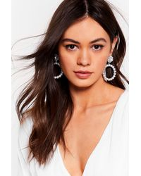 """Nasty Gal """"another Round Pearl Drop Earrings"""" - Metallic"""