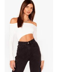 Nasty Gal How Bare You Off-the-shoulder Bodysuit - White