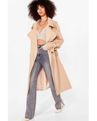 Nasty Gal Take Cover Longline Trench Coat - Multicolour