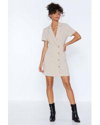 Nasty Gal - Button Cloud Nine Blazer Dress - Lyst