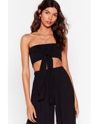 """Nasty Gal """"water You Up To Bandeau Cover-up Top"""" - Black"""