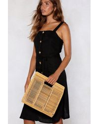 Nasty Gal - Want Touch Wood Clutch Bag - Lyst