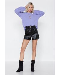 """Nasty Gal - """"night On The Town Faux Leather Shorts"""" - Lyst"""