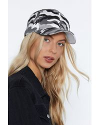 Nasty Gal - Hide Out Camo Cap - Lyst