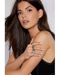 """Nasty Gal - """"hands Off 3-pc Ring Set"""" - Lyst"""