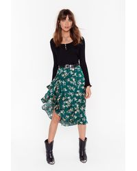 Nasty Gal - Nothing Bud A Goodtime Floral Midi Skirt - Lyst