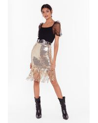 "Nasty Gal ""nasty Gal Studio Into The Groove Sequin Mini Skirt"" - Metallic"