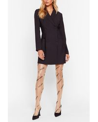 """Nasty Gal """"moving City To City Sheer Graphic Tights"""" - Multicolor"""