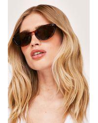 Nasty Gal Savannah Ooh Na-na Leopard Cat-eye Sunglasses - Brown