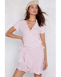 Nasty Gal - Square To Join Us Gingham Top - Lyst