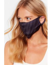 Nasty Gal Face First Fashion Face Mask - Black