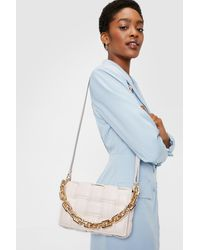 Nasty Gal Woven Chunky Chain Shoulder Bag - Multicolor