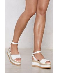 Nasty Gal - If You Can't Have It All Espadrille Platform Sandal - Lyst