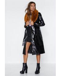 Nasty Gal - Falling Fur You Faux Fur Trench Coat - Lyst