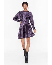 """Nasty Gal """"totally Crushin' On You Velvet Mini Dress"""" - Purple"""