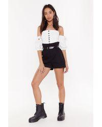 Nasty Gal Belted Cargo Shorts - Black