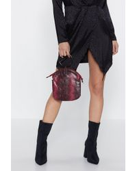 Nasty Gal - Want Python-ic Moment Circle Handle Bag - Lyst