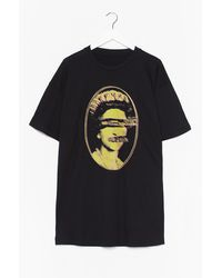 Nasty Gal Never Mind The Sex Pistols Graphic Tee Dress - Black