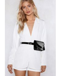 Nasty Gal - Want Keep Your Friends Close Patent Belt Bag - Lyst