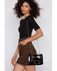 "Nasty Gal ""patent Faux Leather Shell Shoulder Bag"" - Black"