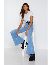 """Nasty Gal """"written In The Stars Flare Jeans"""" - Blue"""