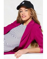 Nasty Gal - Mouth Off Baseball Cap - Lyst