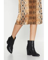 """Nasty Gal """"hope For The West Faux Leather Boots"""" - Black"""