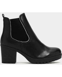 Nasty Gal - Walk It Off Studded Boot - Lyst
