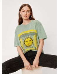 Nasty Gal Take The Trip Crew Neck Graphic T-shirt - Green