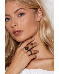 Nasty Gal - All That Shines 4-pc Ring Set - Lyst