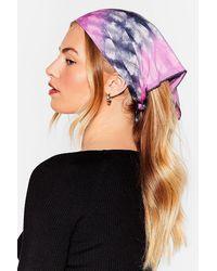 Nasty Gal Tie Can't Choose Tie Dye 4-pc Headscarf Set - Blue