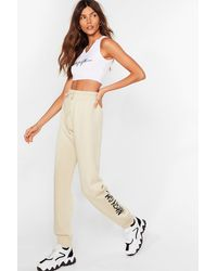Nasty Gal Word On The Street Relaxed Joggers - Natural