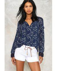 Nasty Gal Mojave Crochet Shorts - White