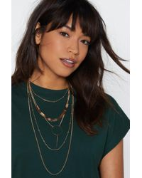 """Nasty Gal - """"on Your Radar Layered Necklace"""" - Lyst"""