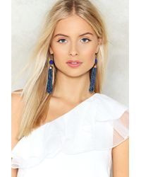 Nasty Gal | Drop In Tassel Earrings | Lyst